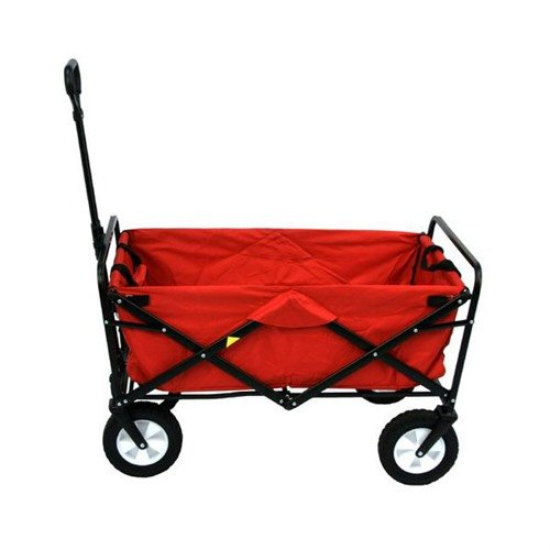 Folding Utility Wagon-Red