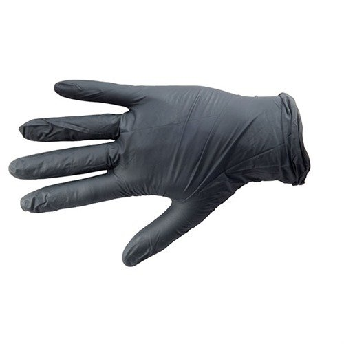 Black Nitrile Medical Grade Glove, Textured, Medium