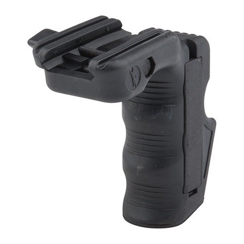 Picatinny Mag Well Grip w/ Finger Grooves Polymer Black