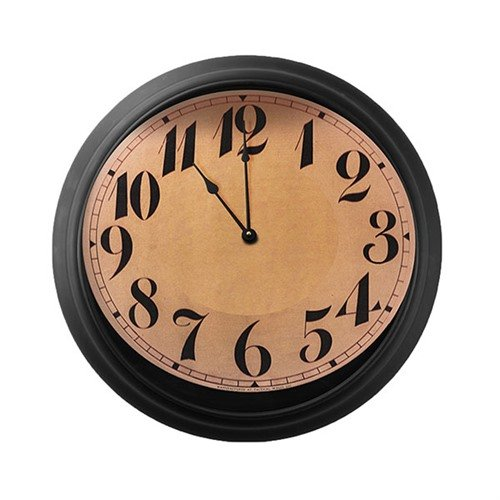 Concealment Wall Clock-Black/Arabic