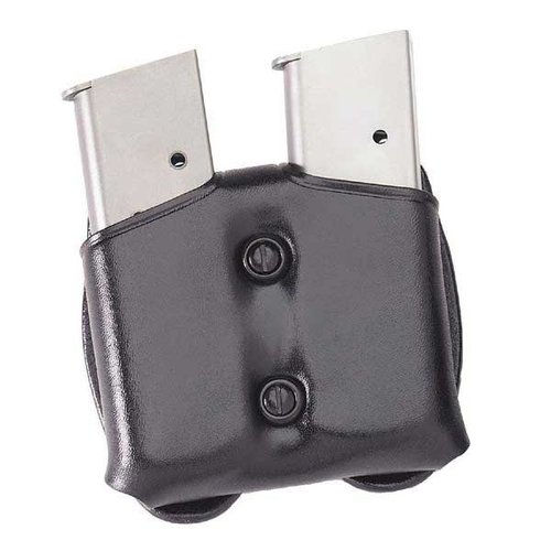 Cop Dual Magazine carrier 9mm/.40 Staggered Mag-Black