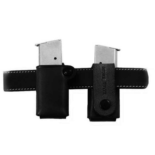 Single Mag Carrier .40 Staggered Metal Mag-Black