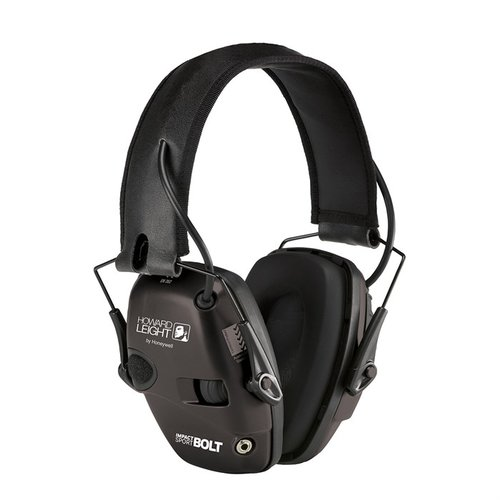 Impact Sport Bolt Electronic Earmuffs Black