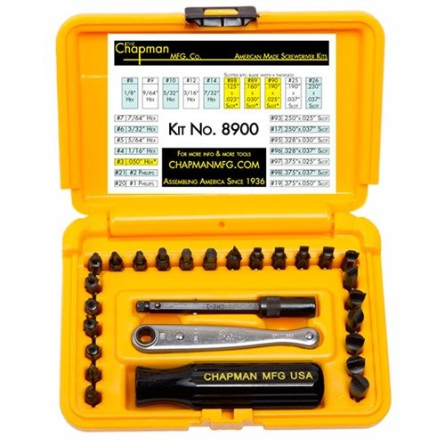 Chapman Deluxe Gun Screwdriver Set