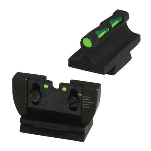 Ruger 10/22 Fiber Optic LITEWAVE Sight Set Black