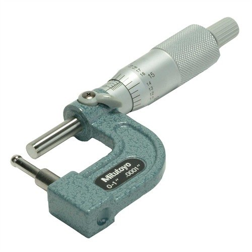 "0-1"" Tube Micrometer with Cylindrical Anvil"