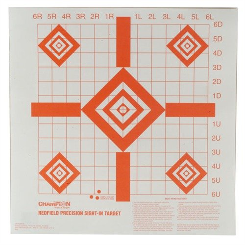 Redfield Style Precision Sight-In Targets, 100 pack